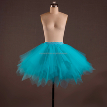 Cheap and Fluffy Turquoise adult long ballet tutu ladies pleated skirt for dance party