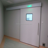 HD073 customized automatic sliding hermetic door in high pressure laminate