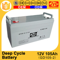 Super Capacitor Lead Acid Deep Cycle Power Storage 12v 105ah Battery