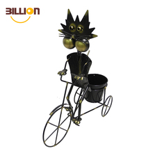 Cute Funny Cat Riding On Bike Decorative Animal Planter, Patio Yard Lawn Decoratiion