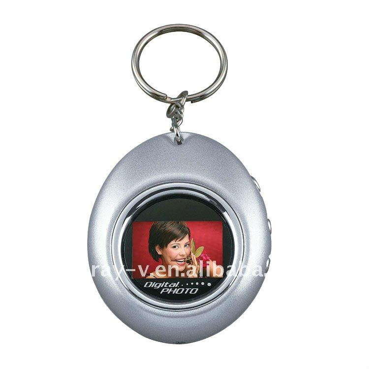1.1 inch digital photo frame with keychain