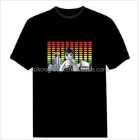 El flashing t-shirts,LED light-up t-shirt,LED t-shirt/light t-shirt