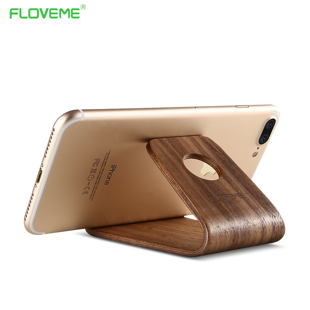 2017 FLOVEME Brand New Products Wooden Rack mobile Phone holder For IPhone 6/6s/7/7p Case/samsung note3/4