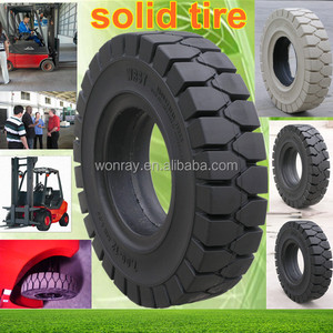 Top Sales China Pneumatic SOLID Tires, Solid Rubber Forklift Tire 350-4 400-8 700-12