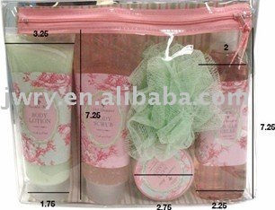 5PK BATH SET IN PVC POUCH