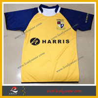 Men's Professional Polyester Custom Sublimation Rugby Shirt
