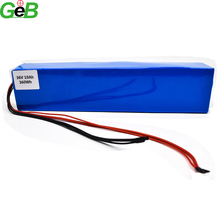 rechargeable electric bicycle lithium ion 36V 10Ah e-bike battery pack for 250W motor power