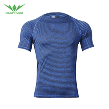Custom Printing Polyester Spandex Quickly Dry cool fabric breathable T Shirt For <strong>Sports</strong> running training workout fitness