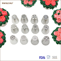 Fresh 12pcs kit russian Cake icing nozzles icing tips cake decorating tools set
