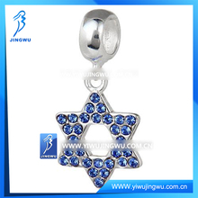 European Silver Star Of David Pendant , 925 Silver Fashion Beads