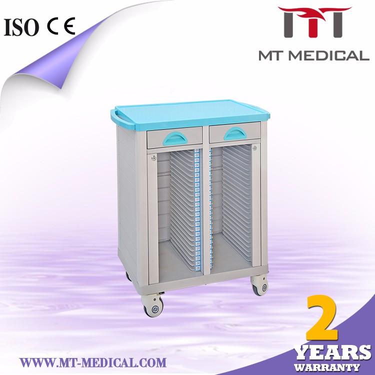 ABCDEF MRT-50 ABS Patient File Cart With Drawers