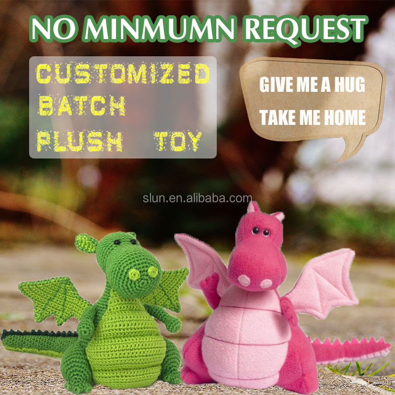 Custom made dragon plush toy wholesale,green plush dragon with hat, dragon plush toys