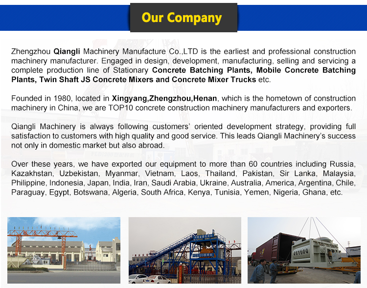 China Manufacturer Construction Equipment Ready Mix Cement Concrete Mixer