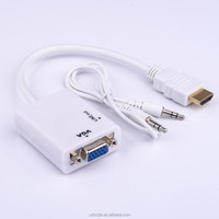Wholesale HDMI to VGA converter of Audio with 3.5 audio cable