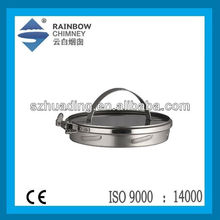 CE double wall stainless steel chimney cap chimney flue pipe fittings