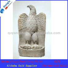 stone carving eagle statue