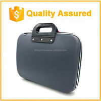 New hard Nylon Waterproof Laptop Computer Case Bag with Side Pockets Handles and Detachable for Laptop