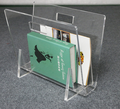transparent U shaped acrylic magazine rack