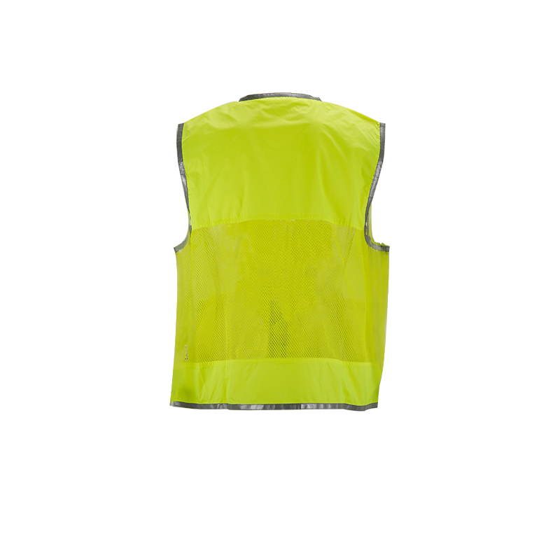 2018 hi vis vest in 100% polyester reflective safety vest from china KF-105Y