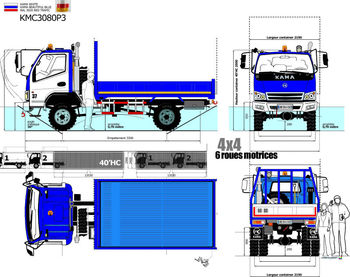 OFF ROAD 4x4 4WD 4*4 CARGO TRUCK 4,00 TONS