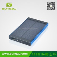 Newly launched portable solar panel charger with solar cell,Solar Power Bank with 4000mah battery,solar mobile phone charger
