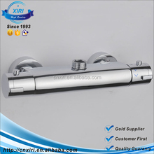 Factory Thermostatic Shower Dual Handle Temperature Control Chrome Brass Mixing Valve Faucet Mixer Tap 723