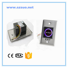 LED tactile button for access control exit button with No touch symbol