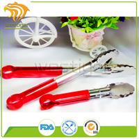 Food Grade Premium Stainless Steel and Silicone Food Tongs