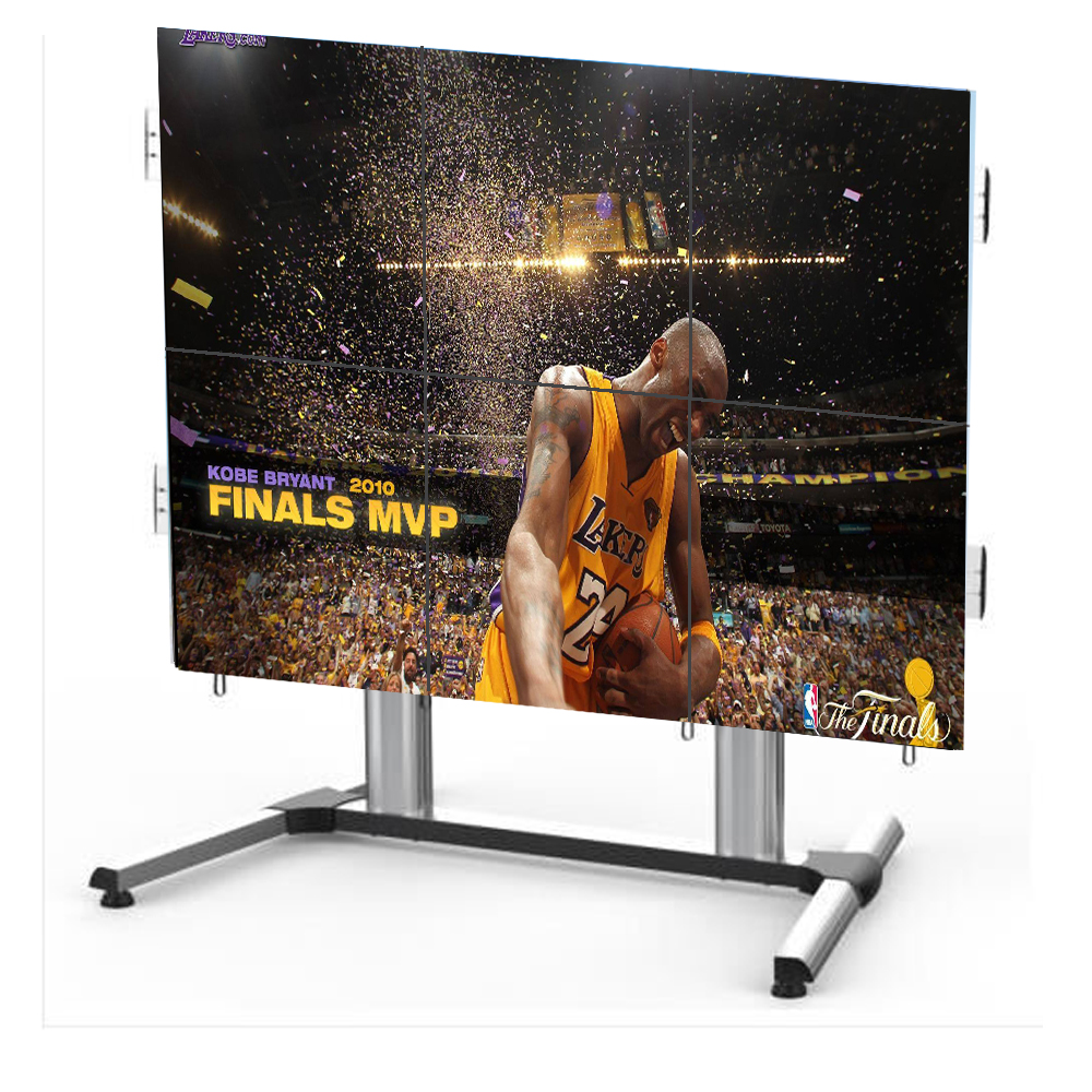 46 inch high brightness lcd video wall price with VGA and HDMI input advertisign monitor