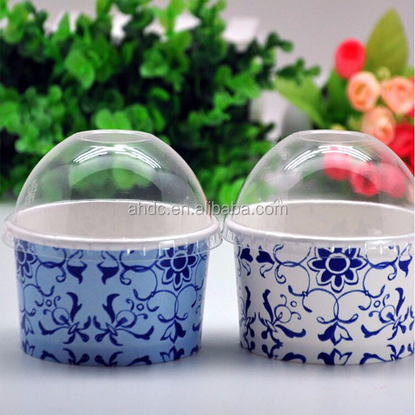 wholesale ice cream cup raw material PE coated paper with lid