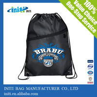 2016 alibaba ECO-friendly recycled satin drawstring bag for promotional