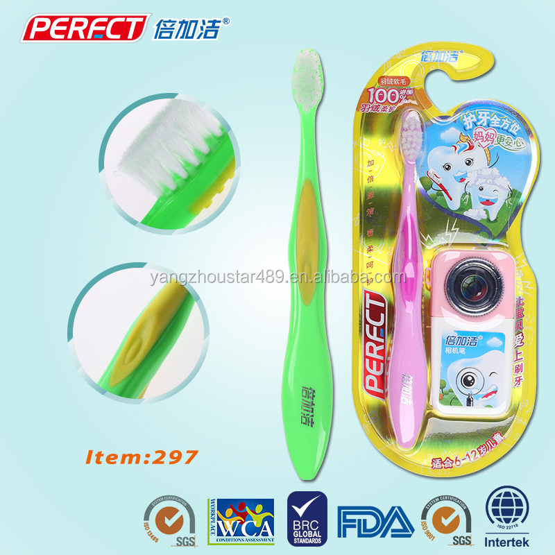 Cheap disposable baby teething tooth brush with toothpaste