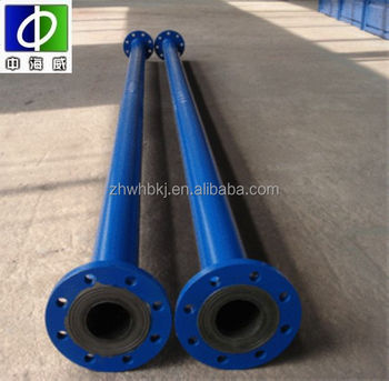 factory direct supply high quality anti corssion rubber lined pipes