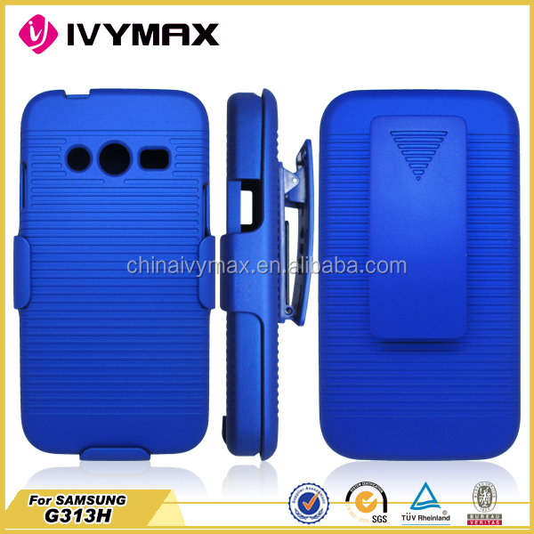 new arrival shockproof case for galaxy ace 4/G313h belt flip case