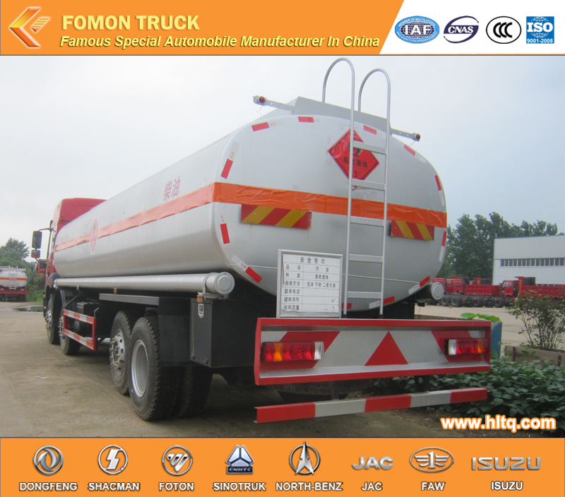 8x4 FAW 22m3 Chemical Tank Truck For Corrosive Liquid Material Nitric Acid Chemical