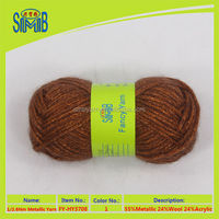 manufacturer wholesale lurex wool air yarn cone yarn for machine knitting from China