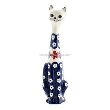 Personazlied Handmade Color Glazed Decorative Pottery Cats