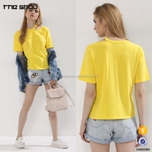 Wholesale custom women cut out t-shirt cheap china wholesale clothing