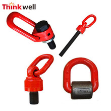 Chain Sling Accessory Lifting Point Alloy Steel Swivel Hoist Ring