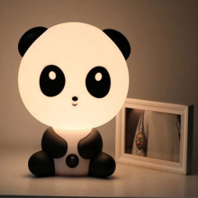 1pcs pretty Cute Panda Cartoon animal night light,Kids Bed Desk Table Lamp Night Sleeping led night lamp Chrismas Gift