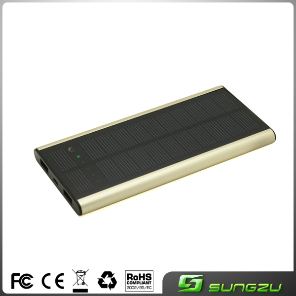 Factory custom ultrathin japan solar charger 6000mah,portable mini solar system with mobile charger