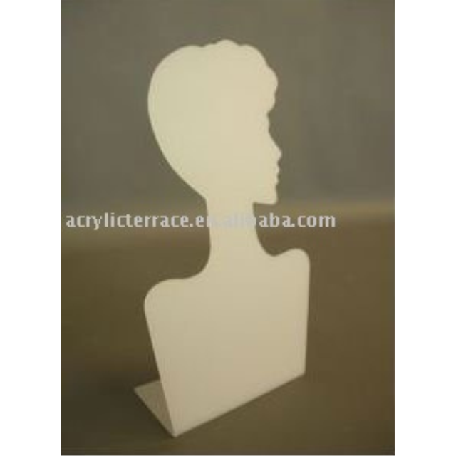 White Acrylic Necklace Display Bust