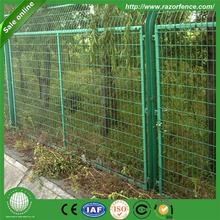 Hot Sell plastic post and beam welded panel fence with high quality