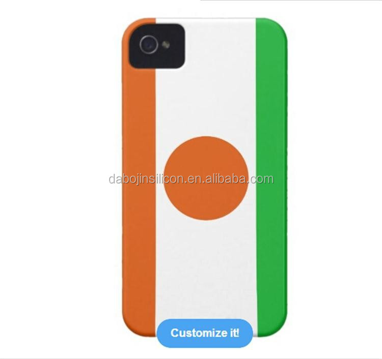 Hot selling high quality silicone Niger flag case for <strong>mobile</strong> phone