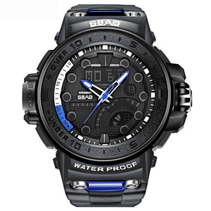 2019 high quality Dual Display Sport Watch For Men Water Resistant 30M Military Big Analog-digital Shock Outdoor Waterproof