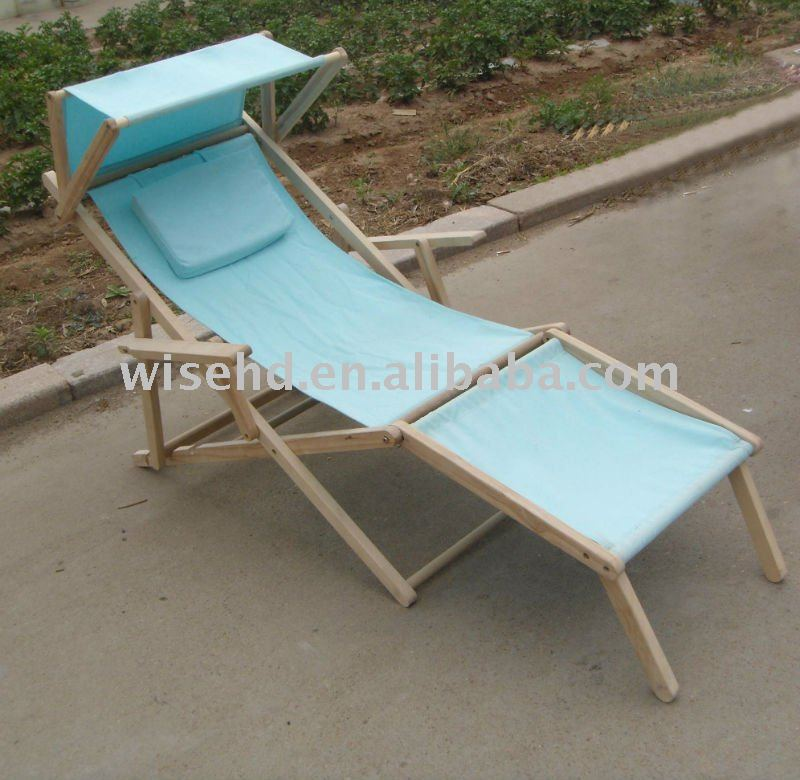 W c 1250 plegable de madera silla de playa con sombrilla - Sombrillas de playa plegables ...