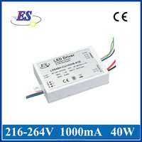 40w led driver,40W 1000mA 40V AC-DC Constant Current dimmable LED driver with Triac Dimmer