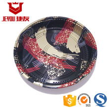 JY82106 Red Plastic Sushi tray Disposable Plastic Japanese Circle Plates