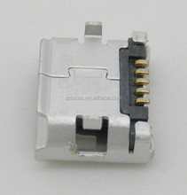 DIP 6.35 SMT MICRO USB RECEPTACLE FOR PCB MOUNTING