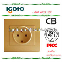 electric silver color wall switch socket french type wall power socket golden color